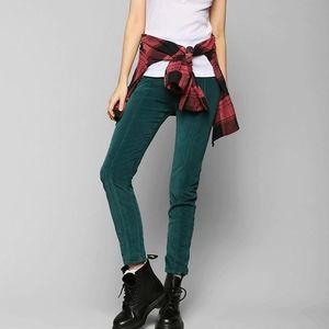 Urban outfitters green velvet pants